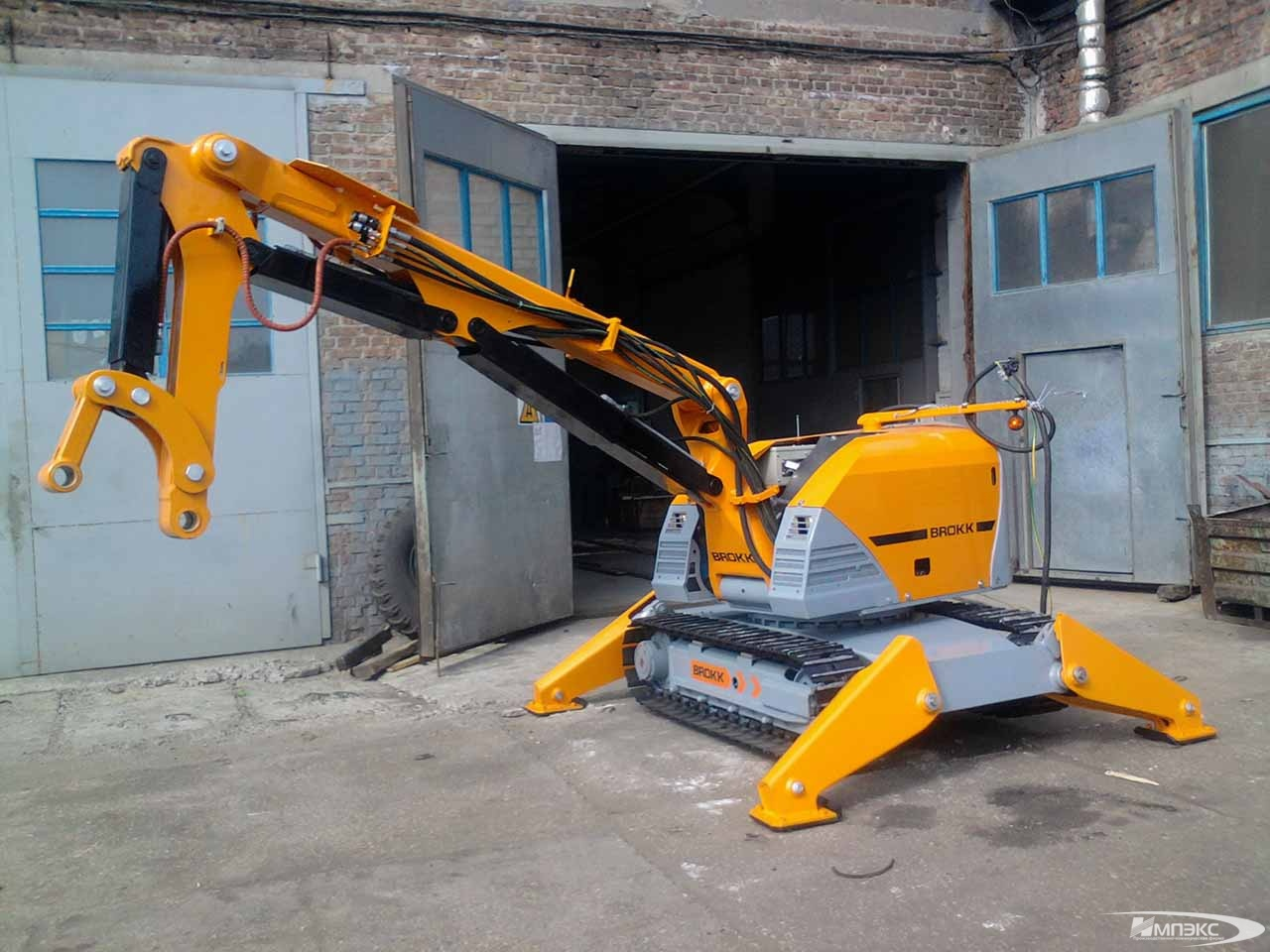 Robot mini excavator BROKK-330