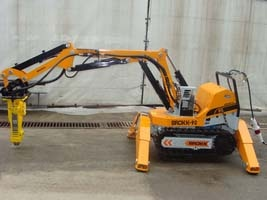 Robot mini excavator BROKK-90
