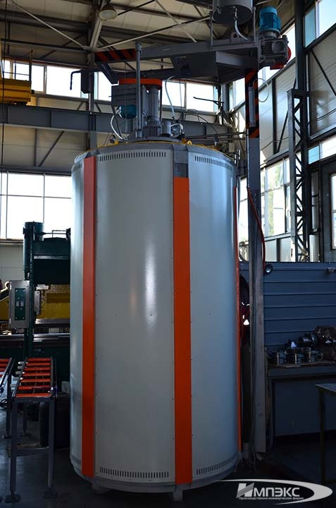 Electrical resistance shaft carburizing furnace SShTsM-6.20/10