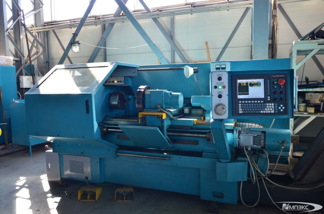 Chuck-and-center lathe with CNC model 16А20F3 2
